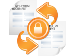 Secured document flow inside and outside the company